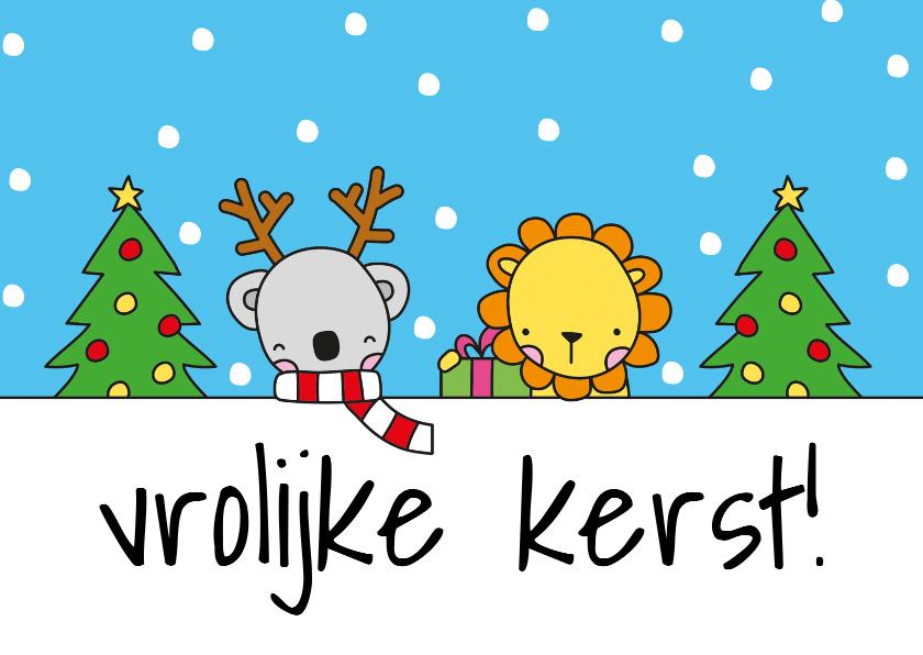 Kerstkaarten - Kerst Dieren
