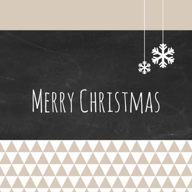 Kerstkaarten - Kerst driehoekjes krijtbord