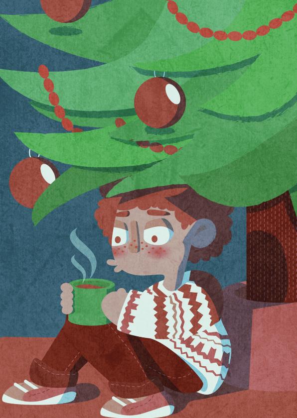 Kerstkaarten - Kerst: een knusse kerst gewenst