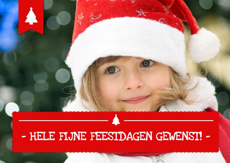 Kerstkaarten - Kerst eigen foto Tekstbalk Hip