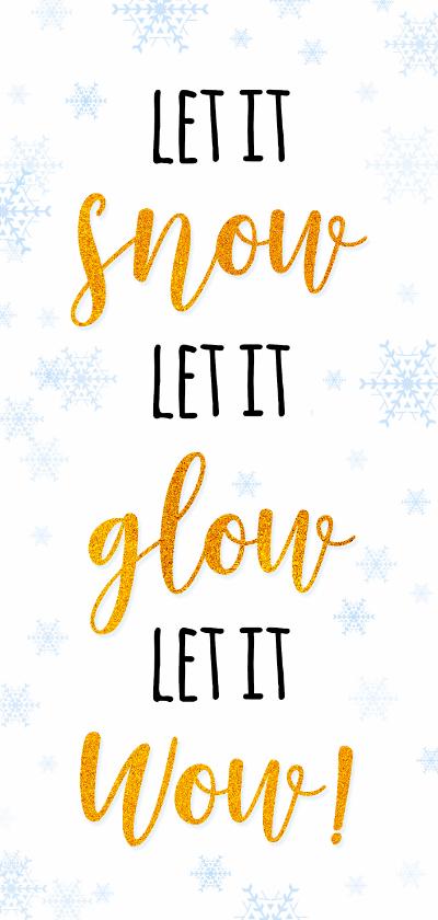 Kerstkaarten - Kerst en Nieuwjaar let it snow met foto