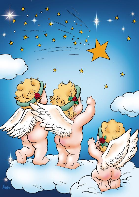 Kerstkaarten - kerst engeltjes 4