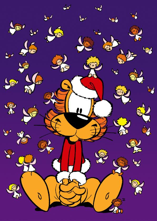 Kerstkaarten - Kerst engeltjes Loeki