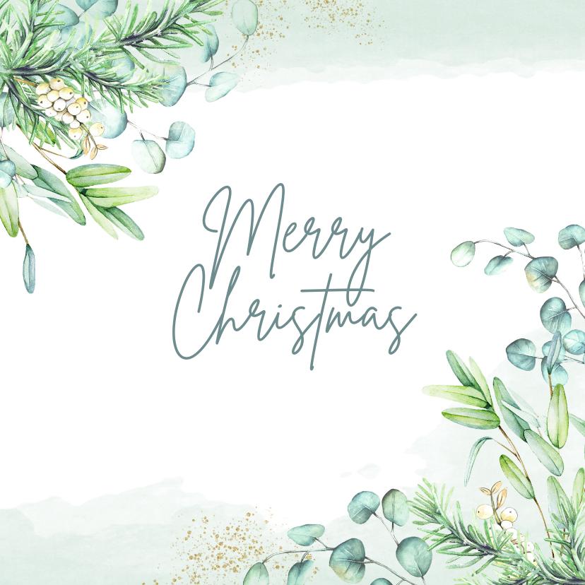 Kerstkaarten - Kerst eucalyptusblad