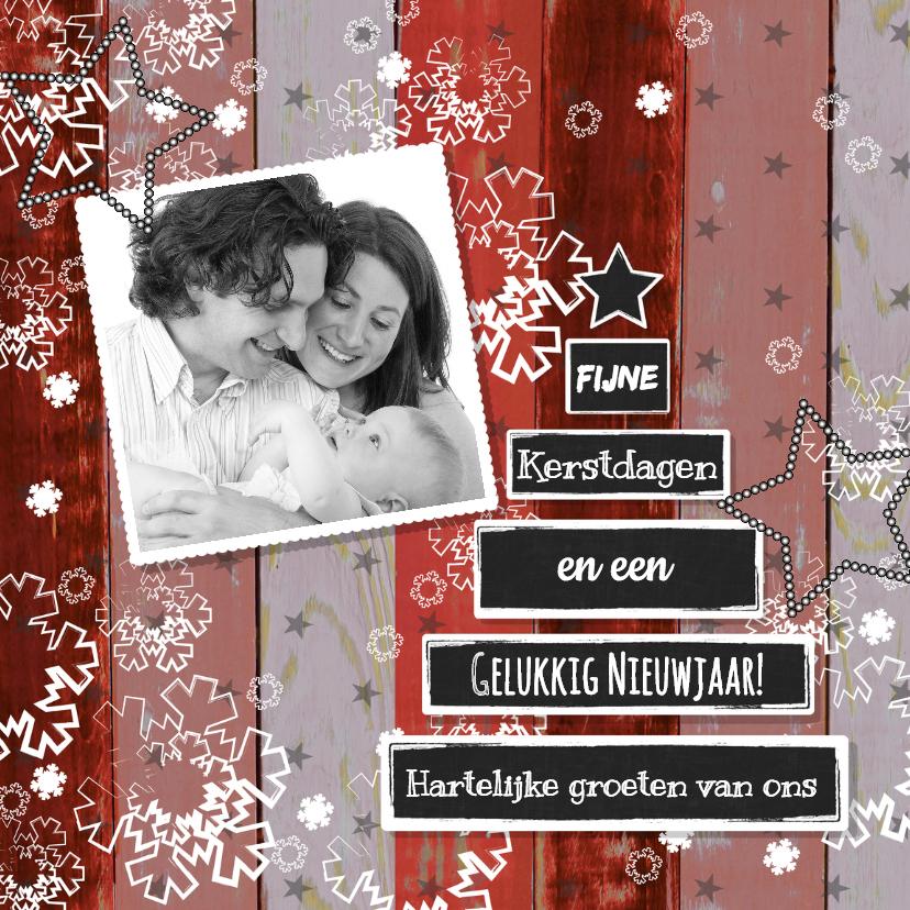 Kerstkaarten - Kerst foto rood krijtbord boom V