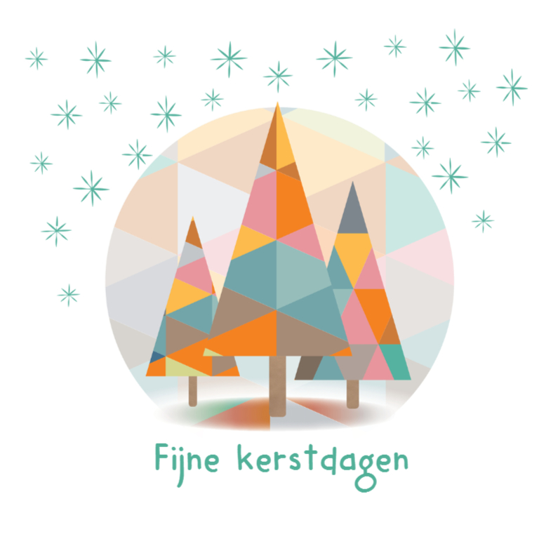 Kerstkaarten - Kerst - Geo - Kerstboom - MW