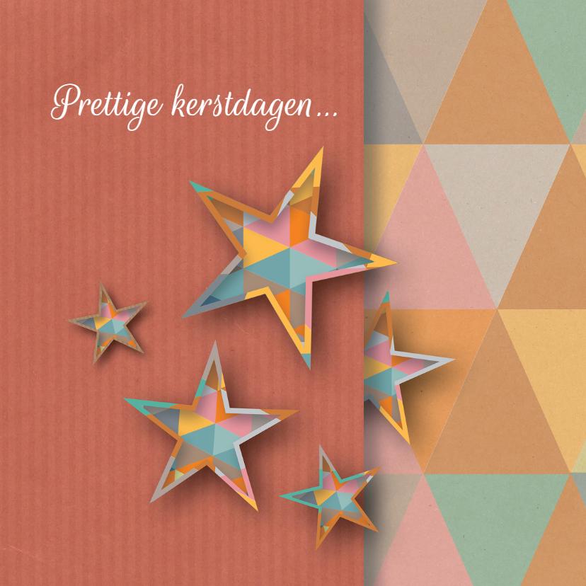 Kerstkaarten - Kerst - Geo Shaped Stars - MW
