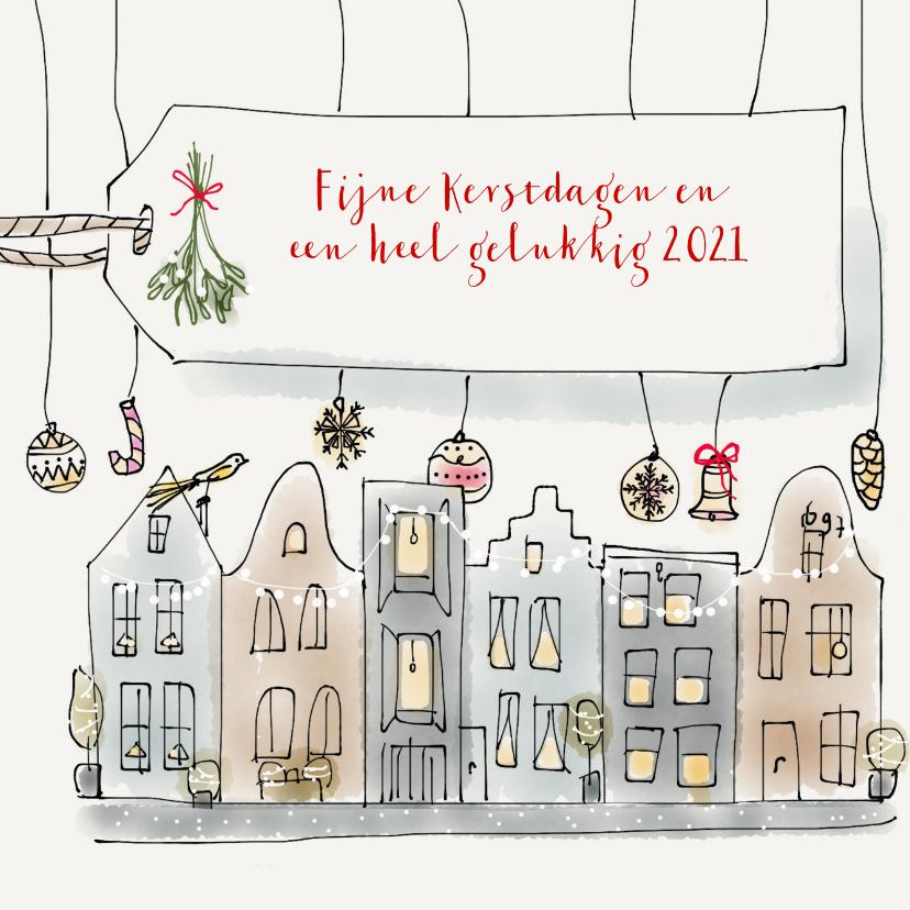 Kerstkaarten - Kerst Grachtenpand 2020