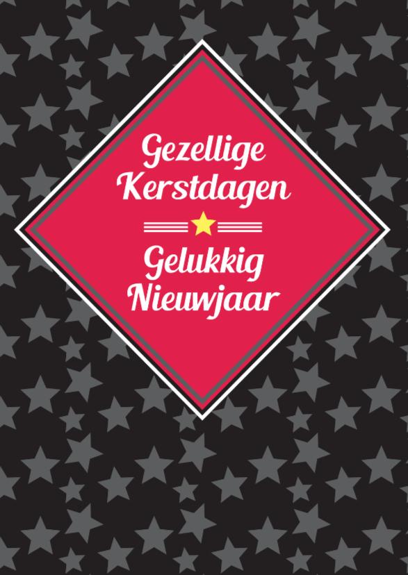 Kerstkaarten - Kerst grafisch met sterren-ByF