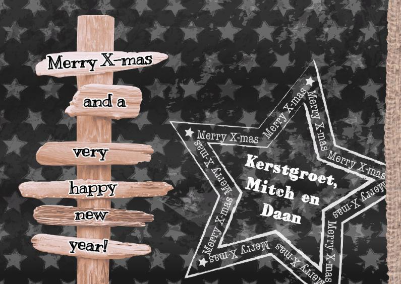Kerst Grijze Sterren Bordjes 1