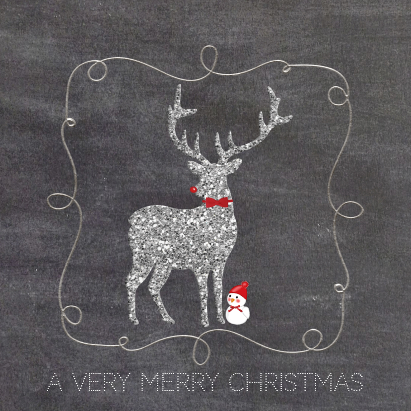 Kerstkaarten - Kerst Hert en Vogeltje - TbJ