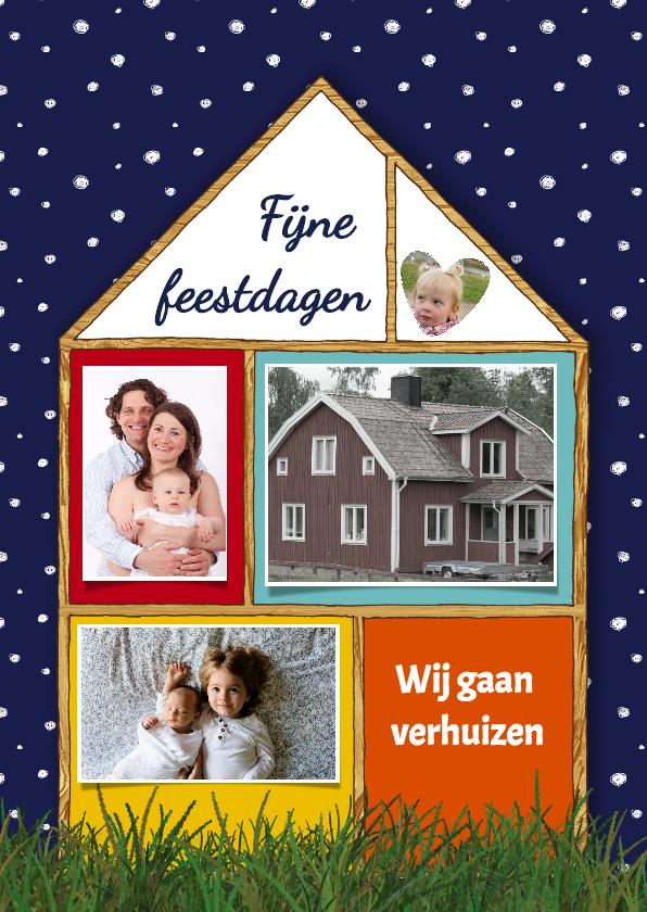 Kerstkaarten - Kerst Huis Fotocollage - HR