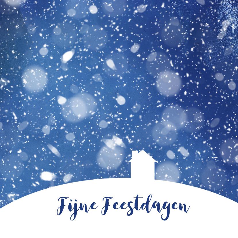 Kerstkaarten - Kerst - Huis in de sneeuw