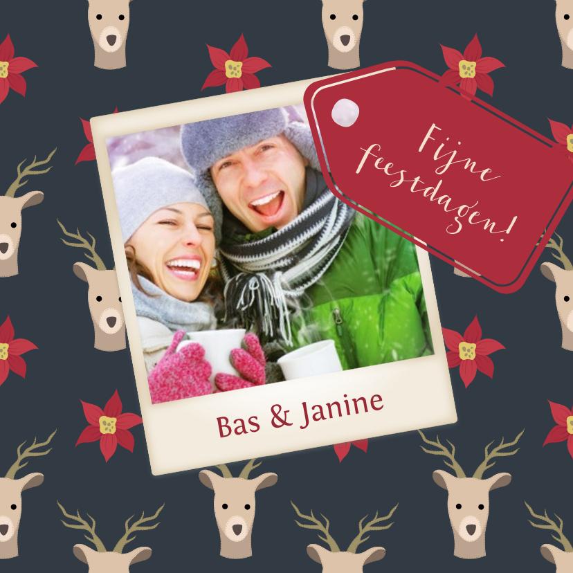 Kerstkaarten - Kerst illustratie deer - DH