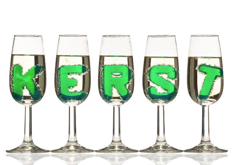 Kerstkaarten - KERST in champagne