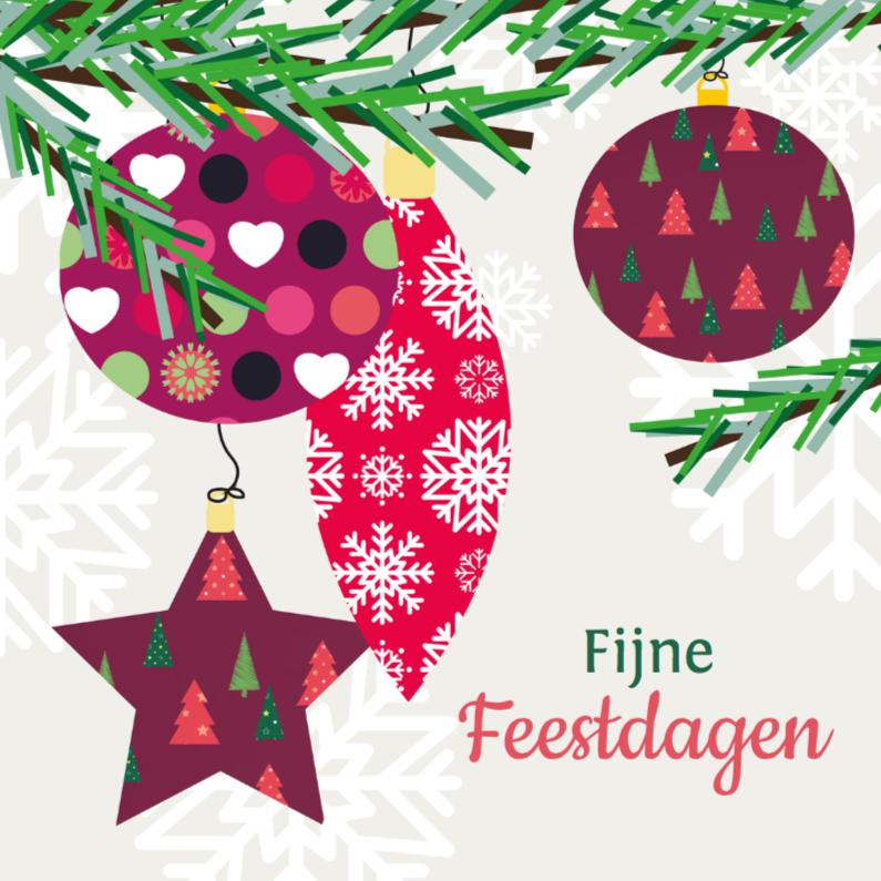Kerstkaarten - Kerst Kerstballen - MD