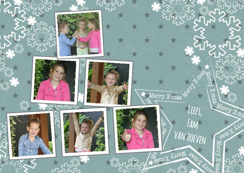 Kerstkaarten - Kerst kerstboom 6 foto's mintgroen