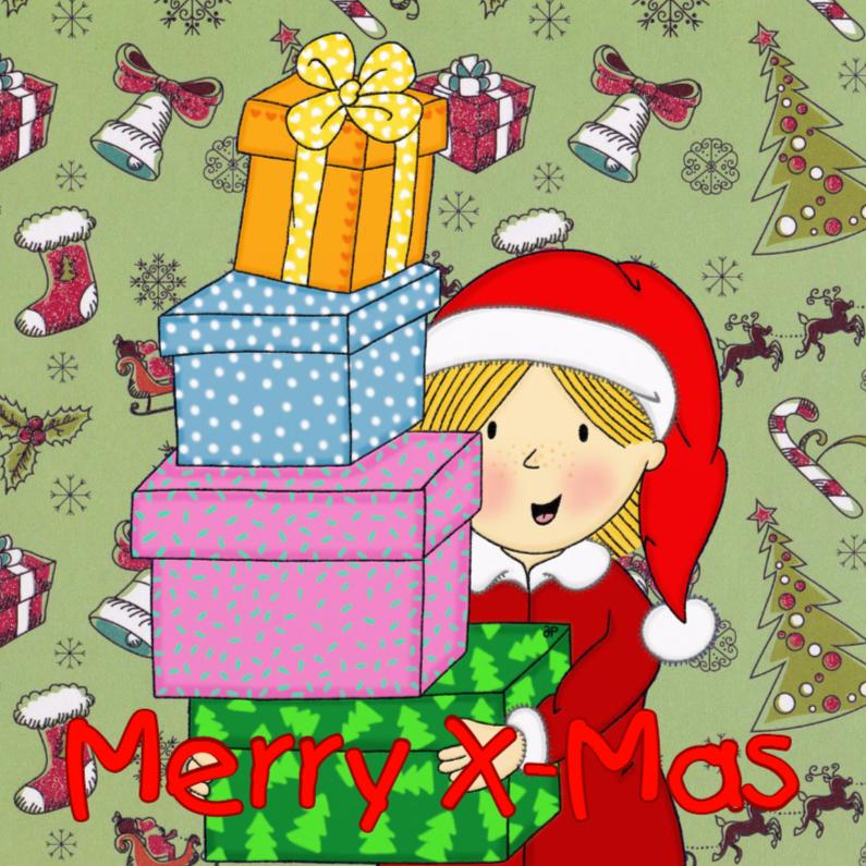 Kerstkaarten - Kerst Kersthulpje Cadeaus - TbJ