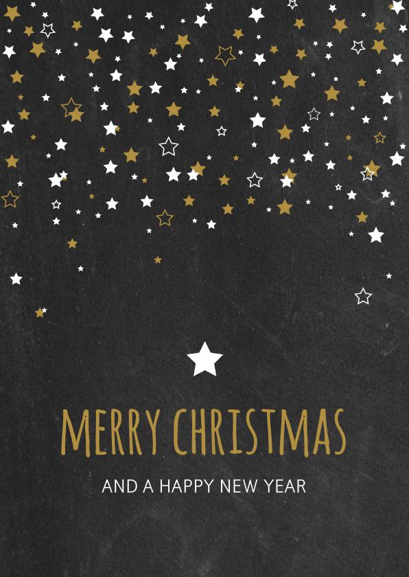 Kerstkaarten - Kerst - Krijtbord met sterren