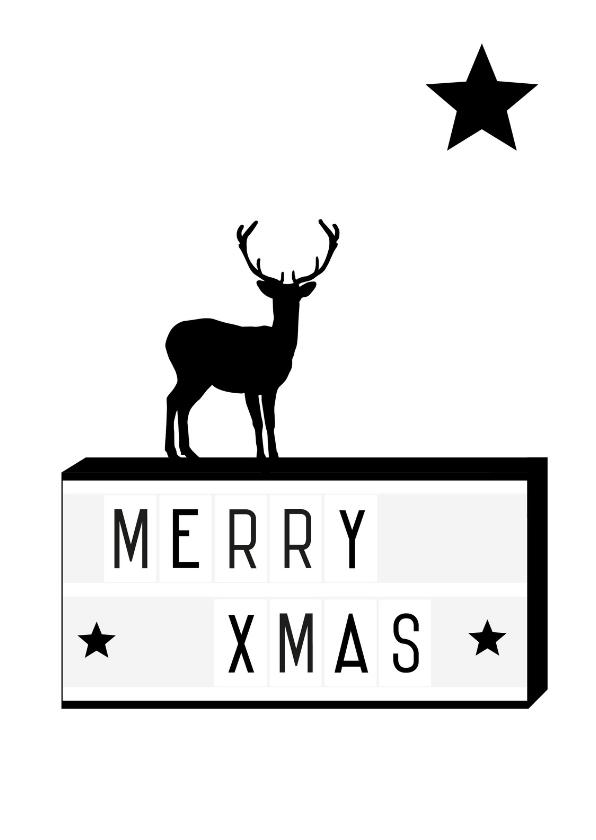 Kerstkaarten - Kerst - Lightbox rendier xmass