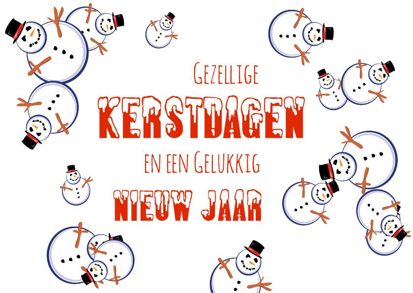 Kerstkaarten - Kerst lijst met Sneeuwpoppen - OT