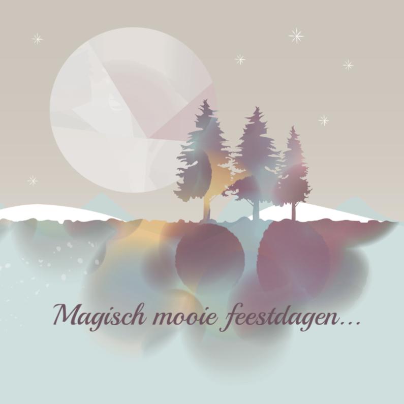 Kerstkaarten - Kerst - Magische Kerst Naturel