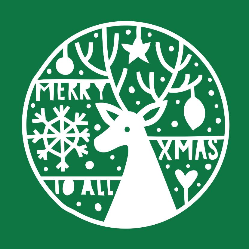 Kerstkaarten - Kerst merry xmas to all
