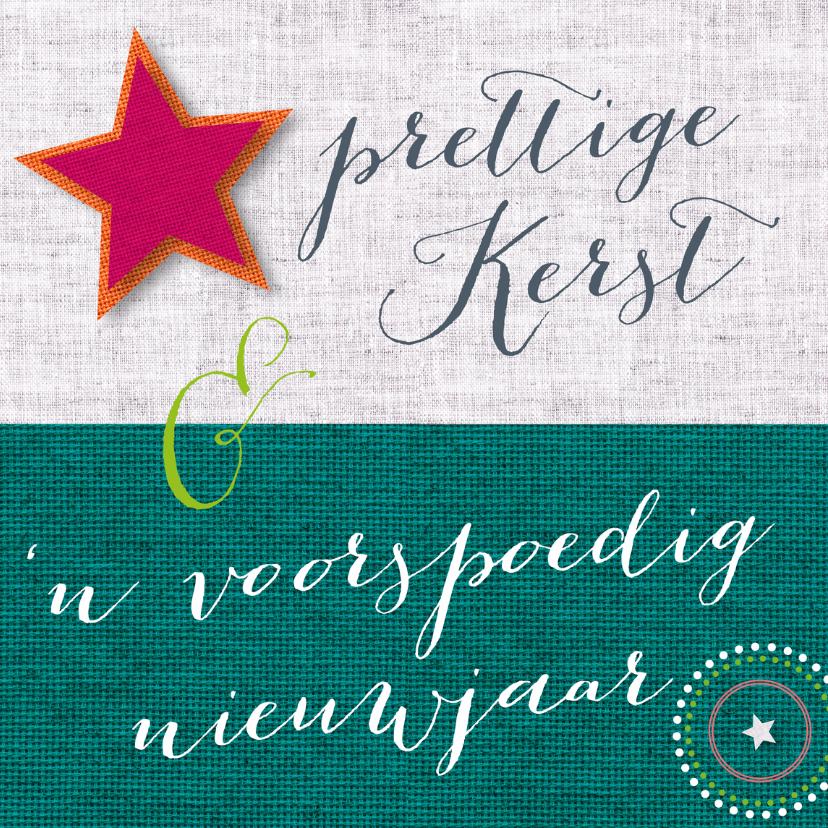Kerstkaarten - Kerst nieuwjaar ster stof