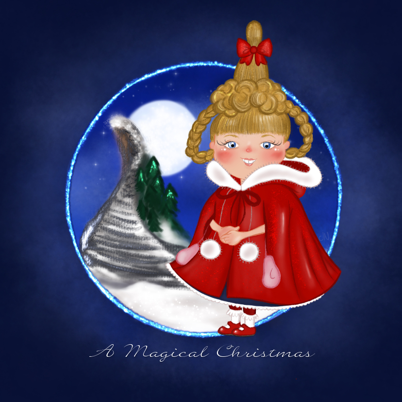 Kerstkaarten - Kerst once upon a time christmas Cindy