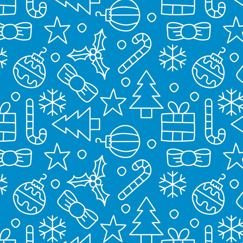Kerstkaarten - Kerst patroon kerstkaart