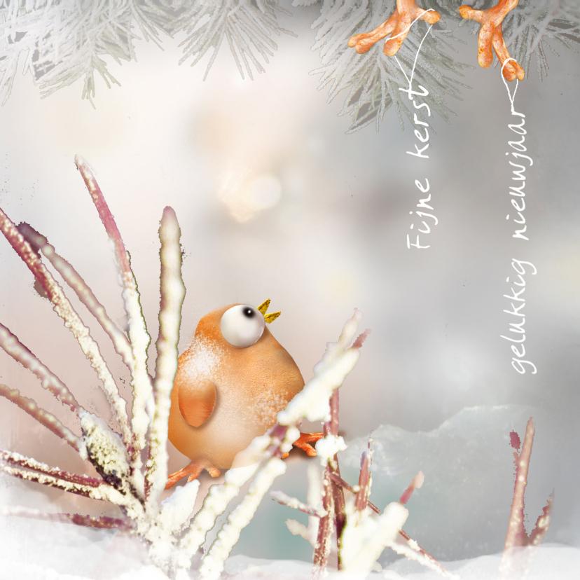 Kerstkaarten - Kerst Ptie Foe in de sneeuw