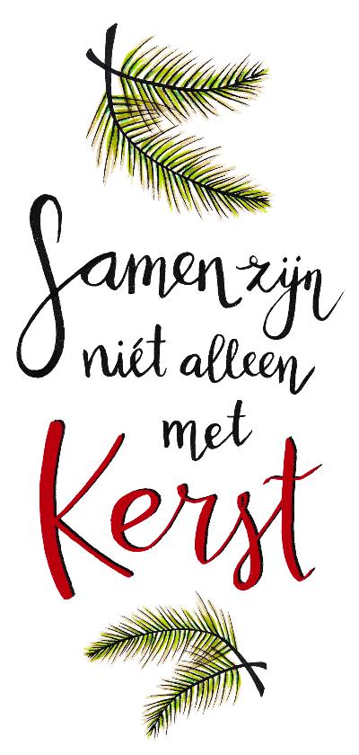 Kerstkaarten - Kerst samen tekst wit - HR