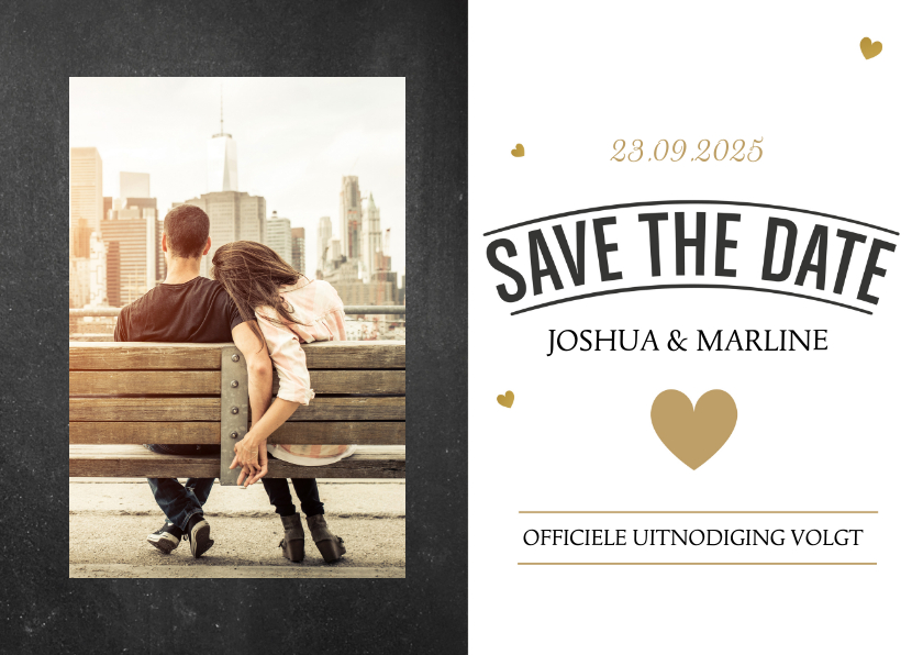 Kerst Save the date kaart 1