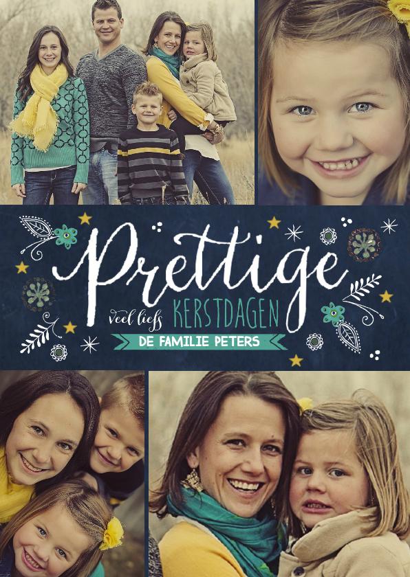 Kerstkaarten - Kerst schoolbord Tekst collage