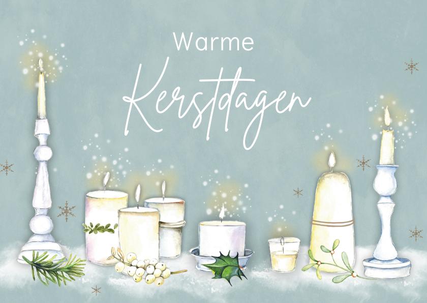 Kerstkaarten - Kerst sfeervolle kaarsen