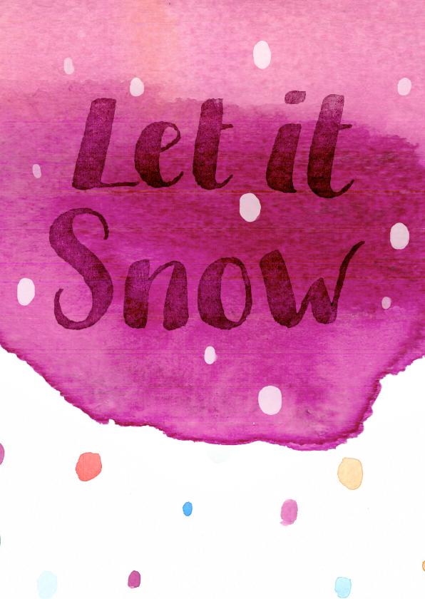 Kerstkaarten - Kerst-snowflakes-watercolour-ADG