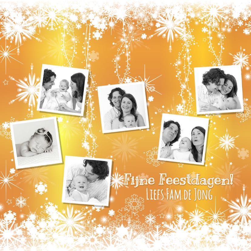 Kerstkaarten - Kerst sprankelende fotokaart