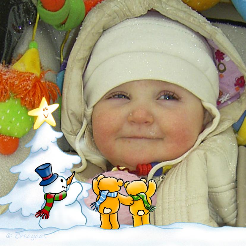 Kerstkaarten - Kerst Sprookjes witte fotokaart