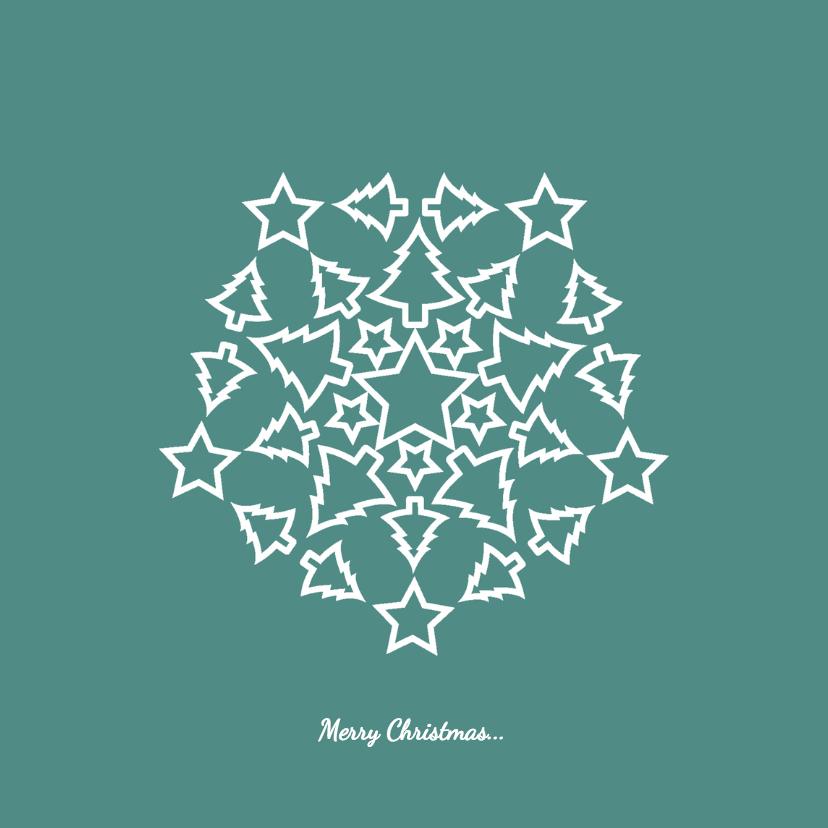 Kerstkaarten - Kerst Sterren Bomen - HR