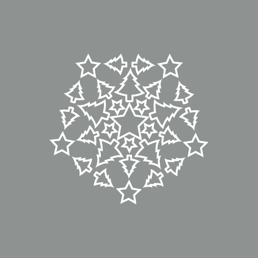 Kerstkaarten - Kerst Sterren Bomen2 - HR