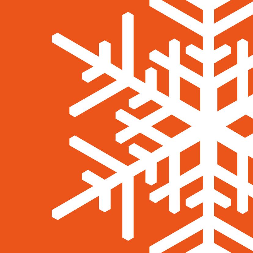 Kerstkaarten - Kerst Strak oranje - OT