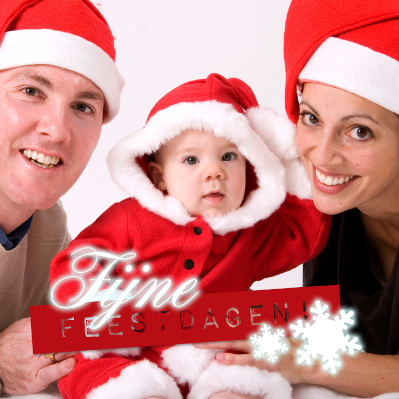 Kerstkaarten - Kerst Tekst op foto 4kant - BK