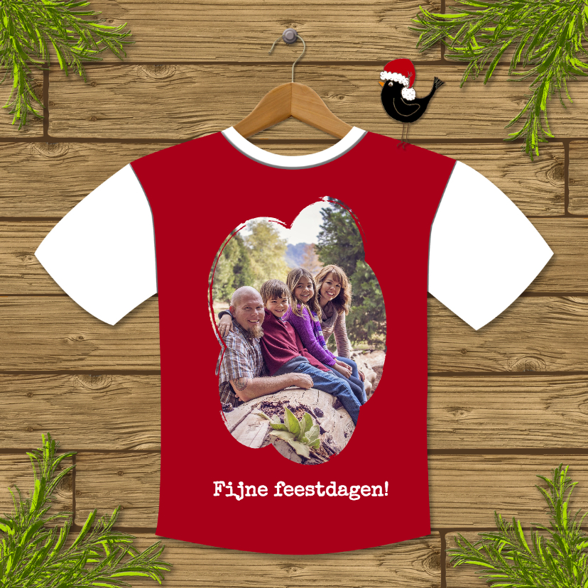 Kerstkaarten - Kerst Tshirt Fotocollage - HR