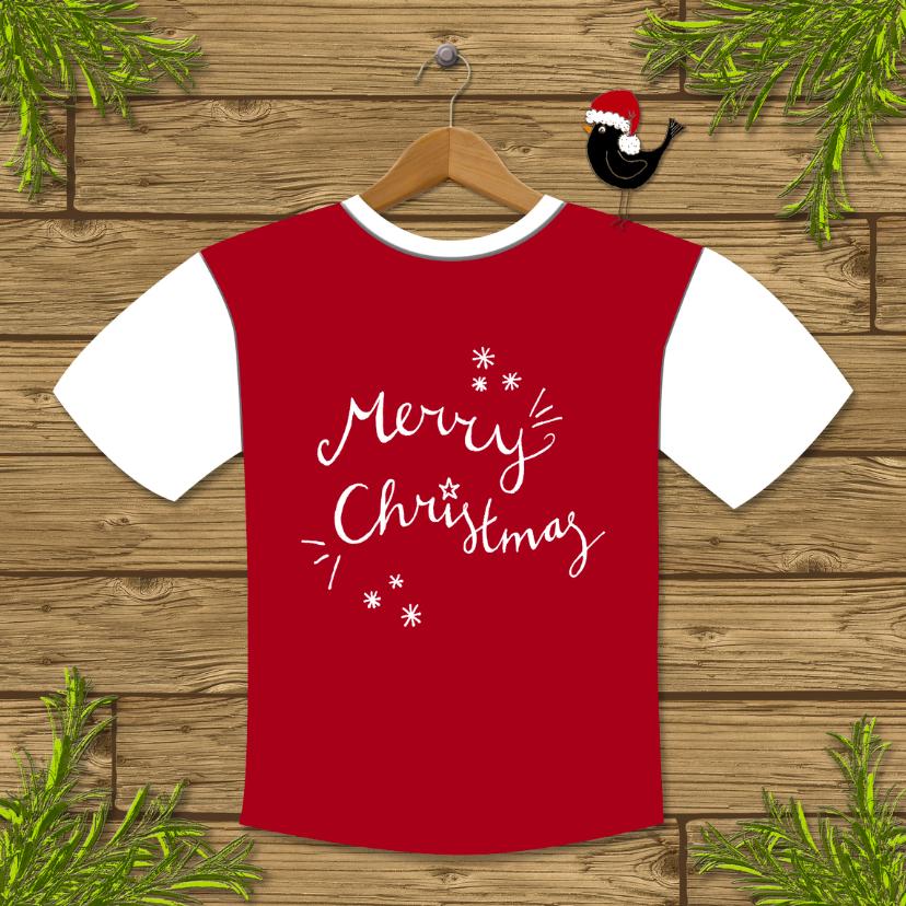 Kerstkaarten - Kerst Tshirt Tekst - HR