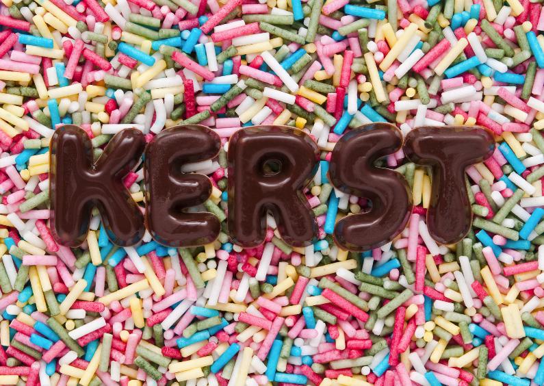 Kerstkaarten - KERST van chocoladeletters