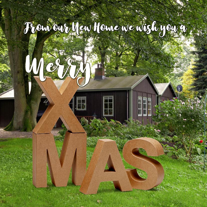 Kerstkaarten - Kerst verhuiskaart eigen foto 2 - OT