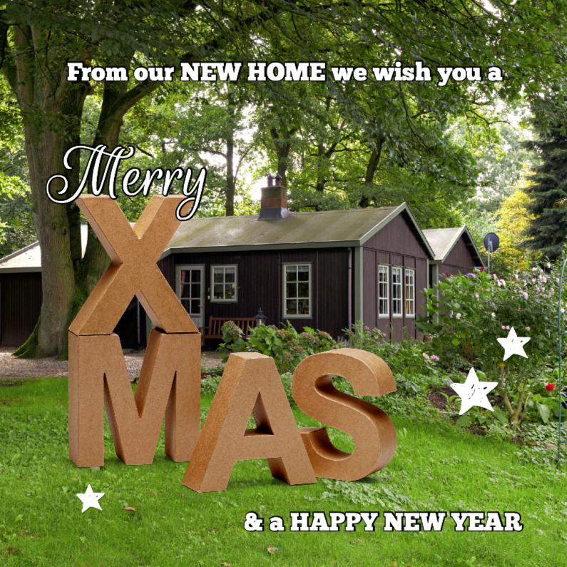 Kerstkaarten - Kerst verhuiskaart eigen foto OT