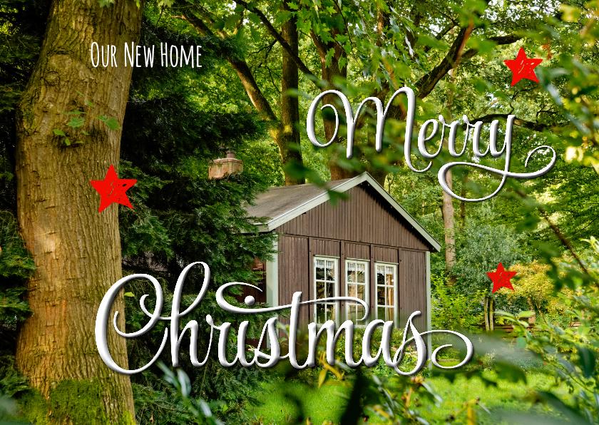 Kerstkaarten - Kerst verhuiskaart liggend OT