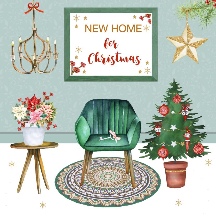 Kerstkaarten - Kerst verhuizen leuke inrichting