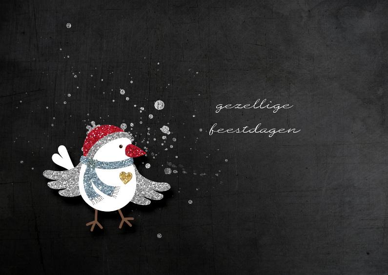 Kerstkaarten - Kerst Vogeltje - JD
